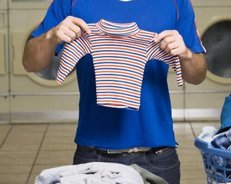 measure collar and sleeve length to check for shrinkage