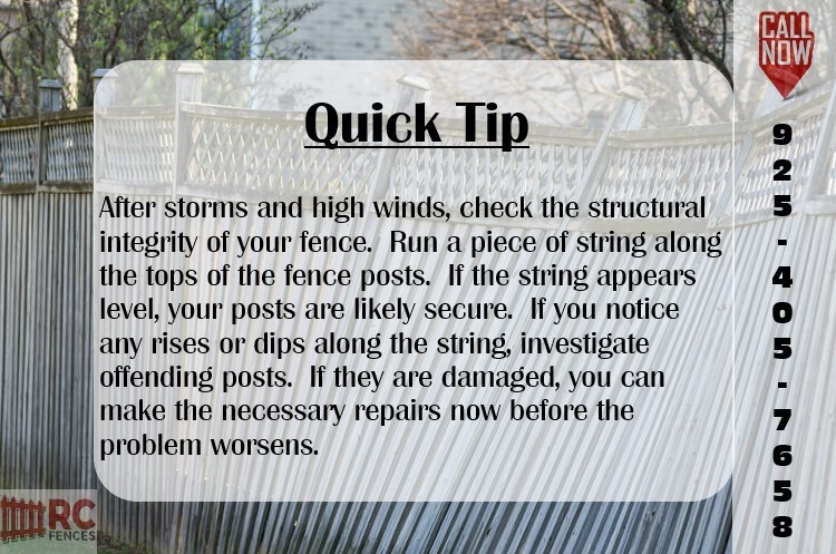 tips for maintaining your fence after high winds and storms