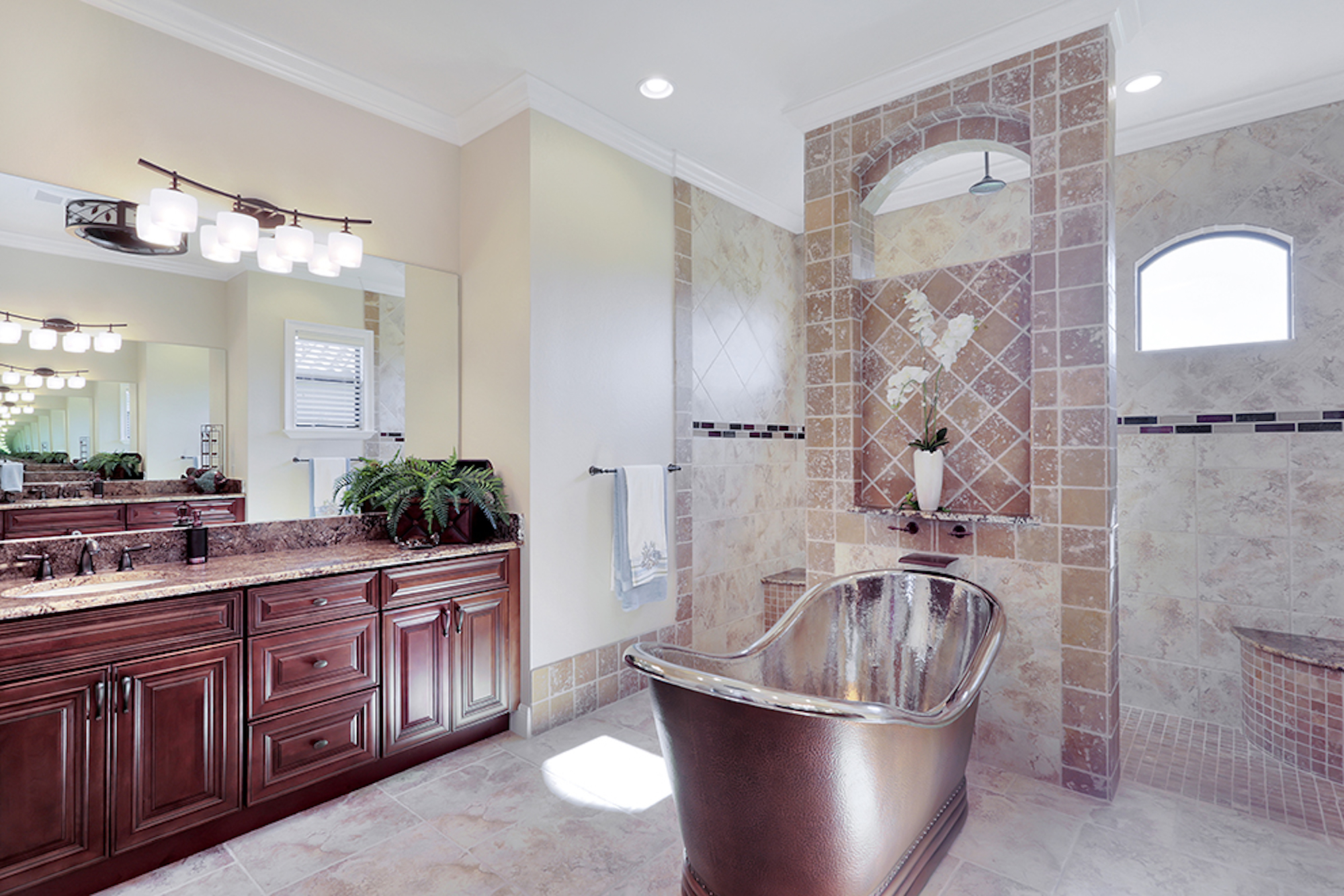 MASTER BATHROOM copper tub