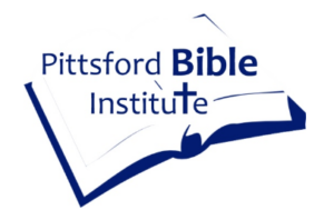 Pittsford Bible Institute Logo - Open Bible with Text