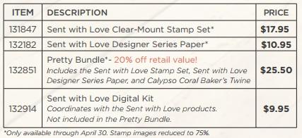 Sent with Love Stamp Set Price