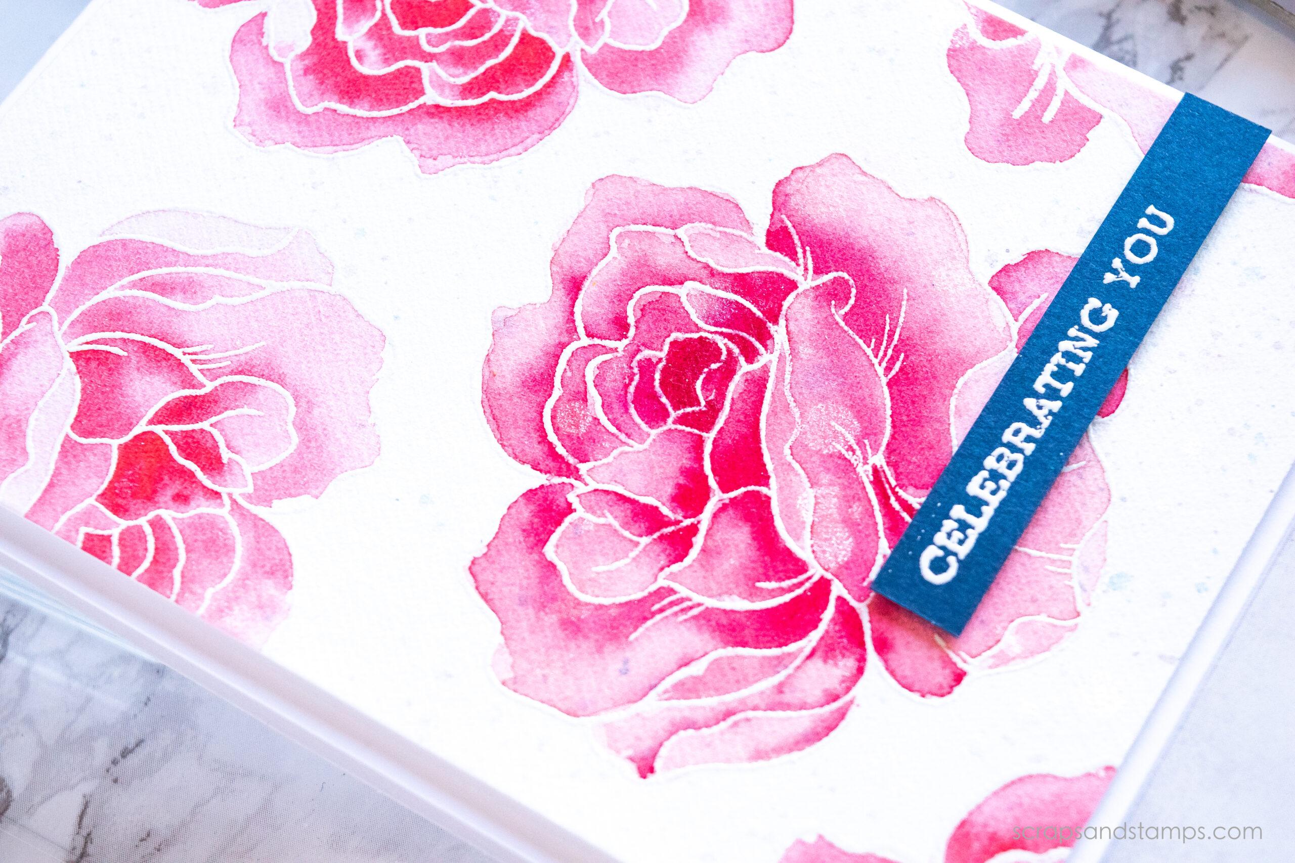 Altenew - Flower Garden Stamp Set - Artist Watercolor 24 Pan Set - Nicole Picadura-11