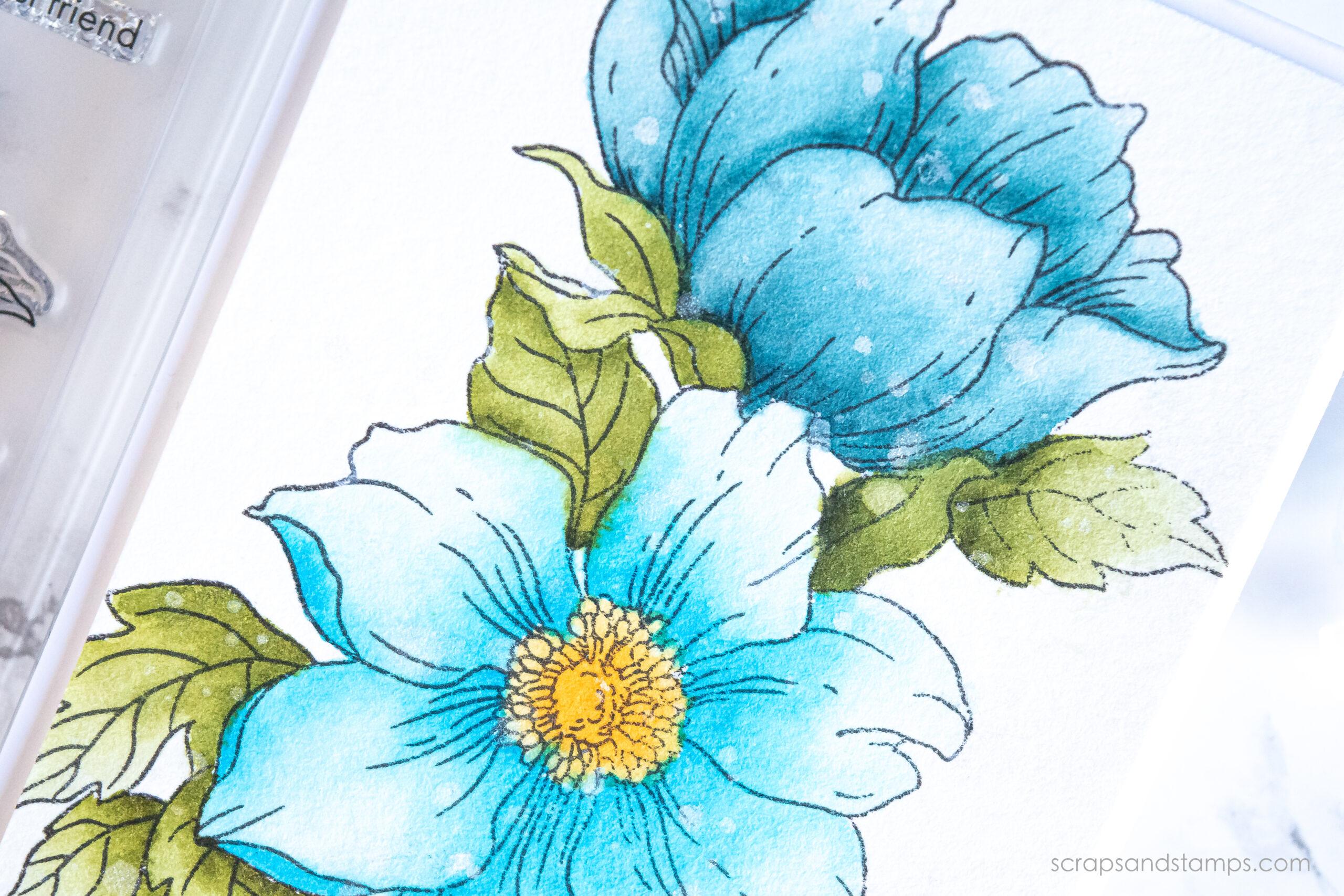 Altenew - Statement Flowers Stamp Set - Watercolor Brush Markers - Nicole Picadura-12
