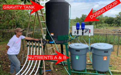 How does a Tower Farm automated irrigation system work?