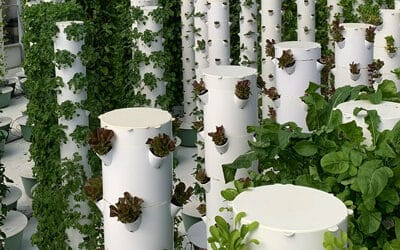 What is the Tower Garden made from?