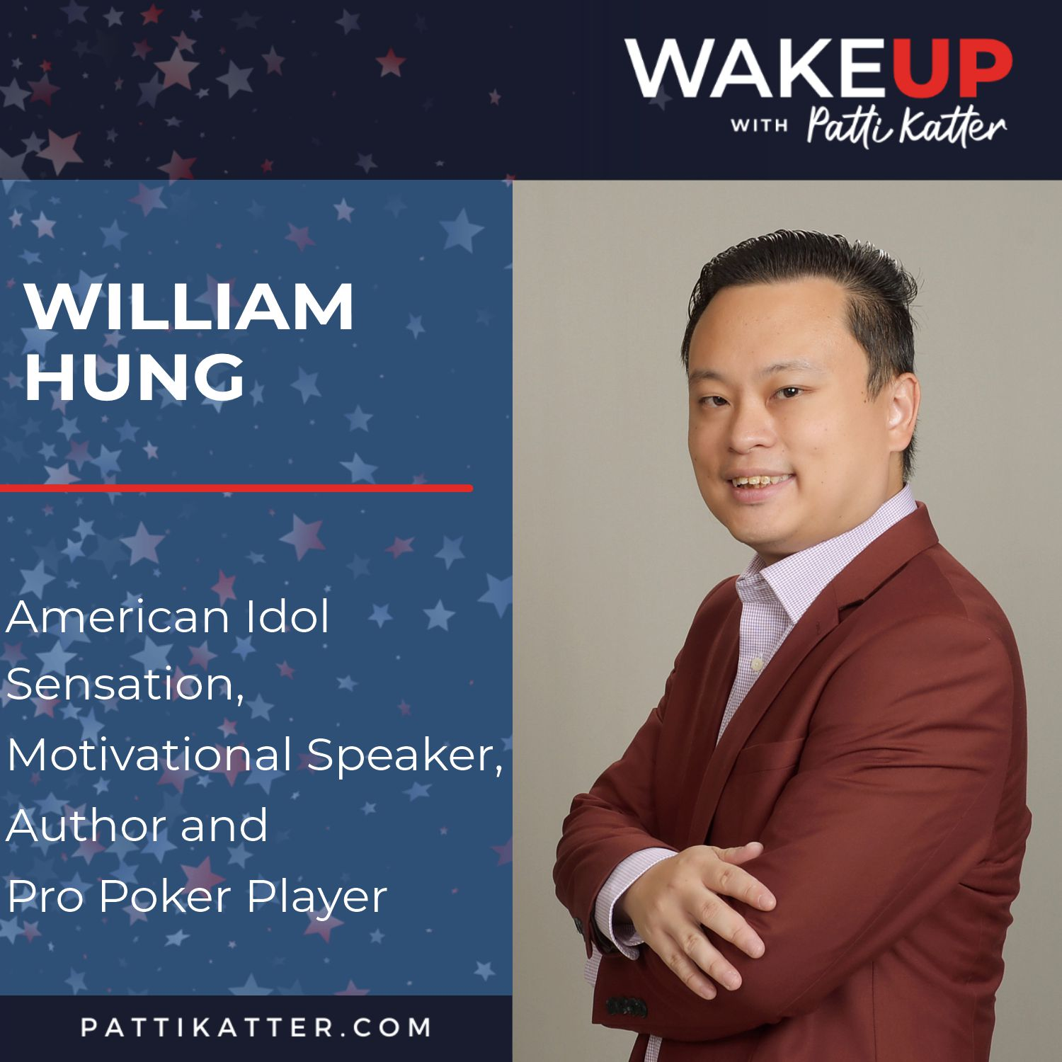 William Hung: American Idol Sensation, Motivational Speaker, Author and Pro Poker Player