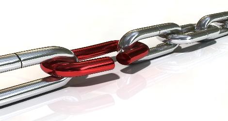broken chain graphic