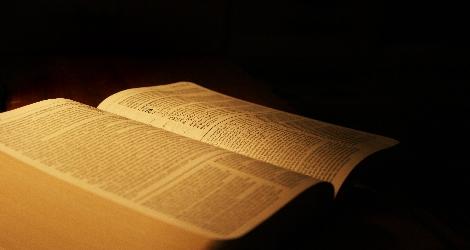 photo of open Bible