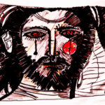 drawing of Jesus weeping