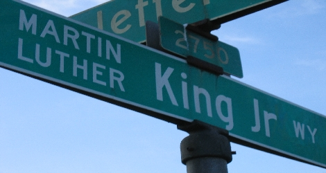 Martin Luther King Way street sign