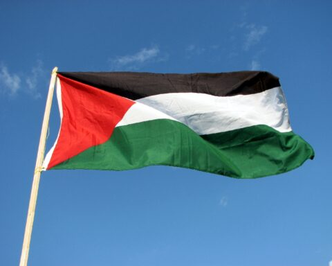 photo of the Palestinian flag