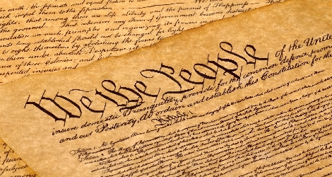 "Photo of the U.S. Constitution, ""we the people"""