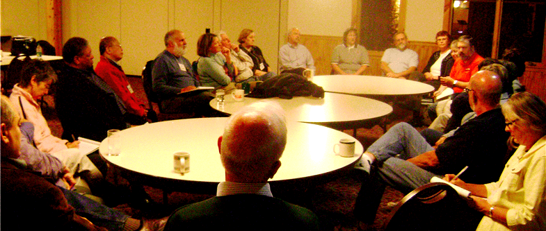 photo of talk with Plains and Peaks Presbytery