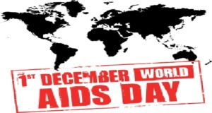 graphic of the world saying 1 December World AIDS Day
