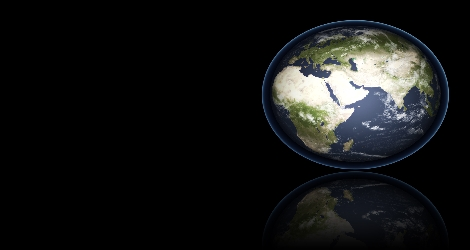 graphic of globe against black backdrop