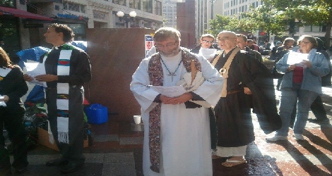 photo of rich lang at occupy movement