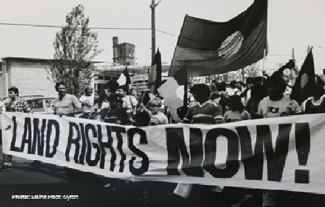 photo of lands rights protest