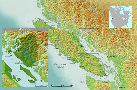 map of Sliammon territory