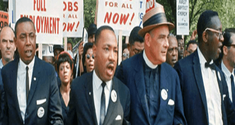 Eugene Carson Blake with Martin Luther King Jr.