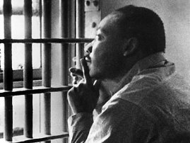 photo of MLK in birmingham jail
