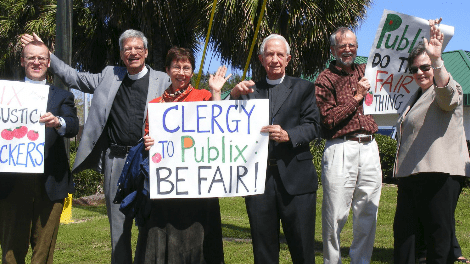 clergy demonstration in Tallahassee outside of Publix