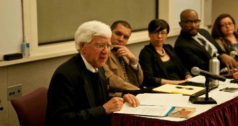 David Abalos and Latino/a Alumni Panel