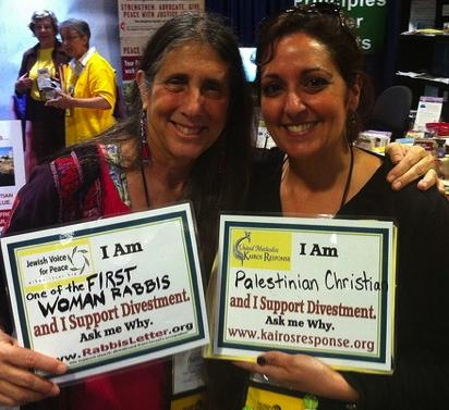 Sandra Tamari, right, at the 2012 United Methodist General Conference, alongside Rabbi Lynn Gottlieb