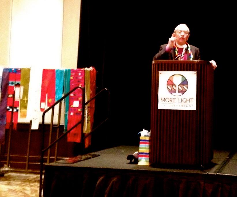 Bishop Gene Robinson addressing More Light Presbyterians