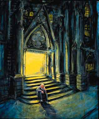 """Church."" Painting by Jonathan Burstein"
