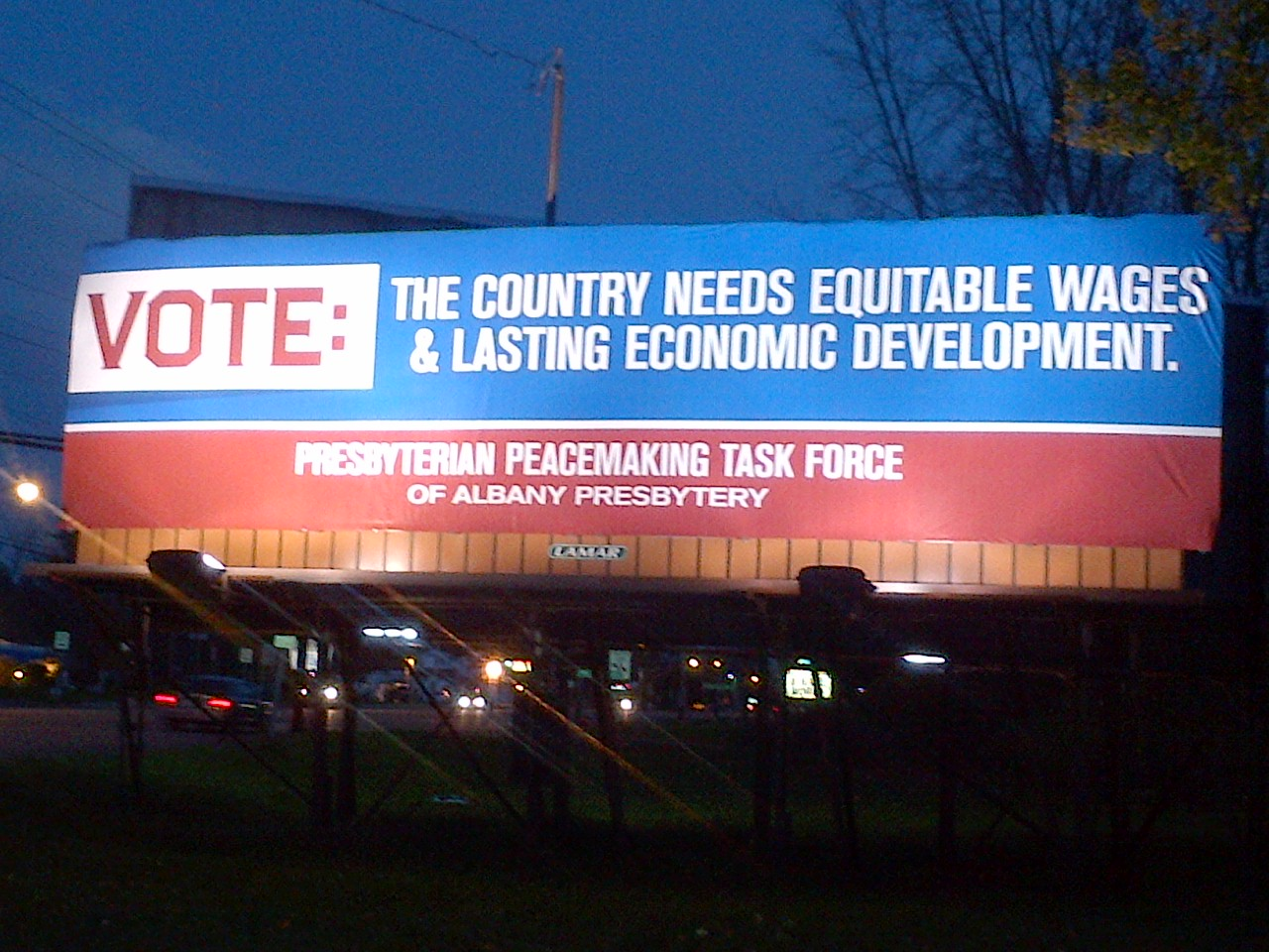 election billboard