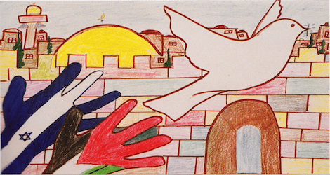 peace for israel and palestine drawing