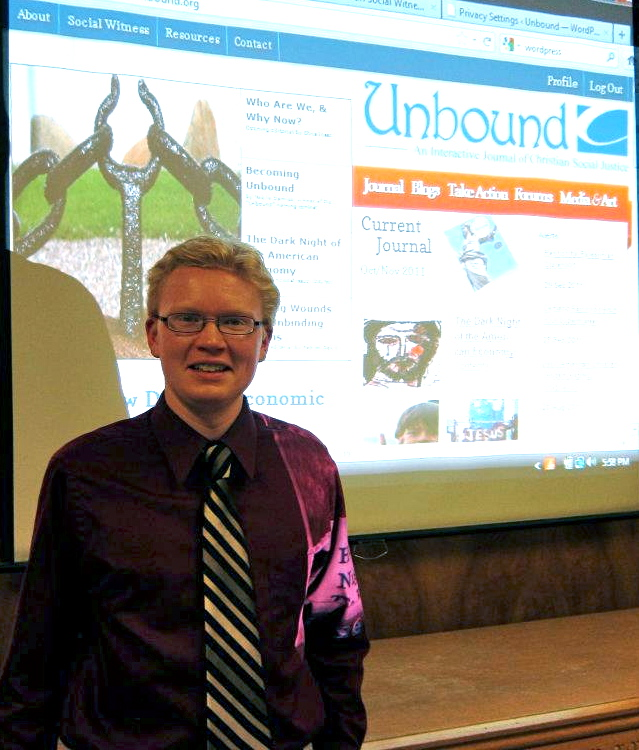 Patrick Heery introducing Unbound after its launch in October 2011