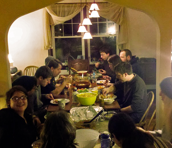 A community meal at the  Greenway Community House of Hospitality in Pittsburgh, PA