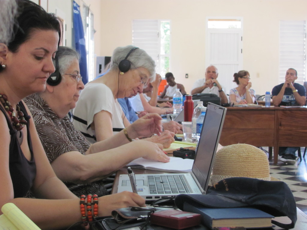 ACSWP and Cuba Partners Group gathered in Cuba for Part 1 of Cuba Consultation listening in the Evangelical Seminary in Matanzas.