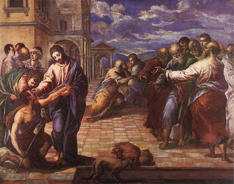 Christ Healing the Blind Man El Greco (1560)