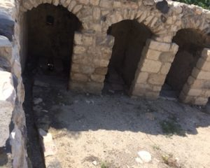 A drainage system in the remains of the Palestinian town of Hittin, which was depopulated during the 1948 war when the residents fled.