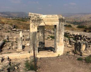 Remains of an ancient synagogue at Arbel
