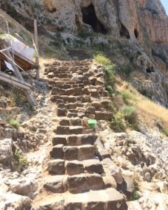 Stairs leading to the ancient Ottoman fortress on the cliffs.