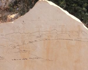 At the top of the cliff, this map helped us understand what we were looking at.