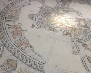 At this zodiac mosaic, James theorized that the hellenization of some Jewish communities around the time of Jesus seems to line up with places where his message was less-well received.