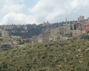 Here's the same church from a distance, after descending the other side of the mountain.