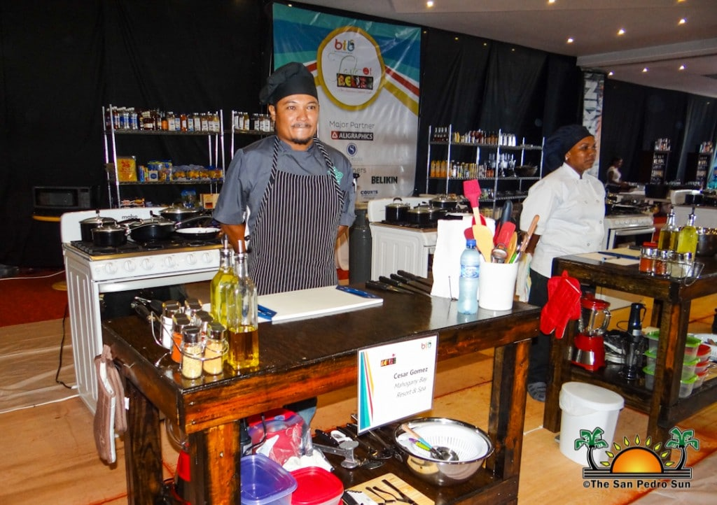 Cesar Gomez representing Mahogany Bay Resort at the Taste of Belize Competition, Belize City, 2018.