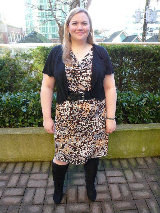 Dress - Lee Lee's Valise Bolero - Ricki's Belt - Laura Plus Boots - Lane Bryant