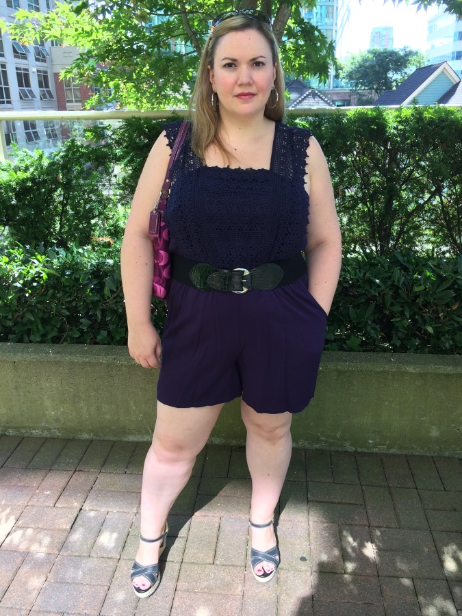 Romper - Forever 21 Belt - Laura Plus Shoes - Clarks Bag - Coach