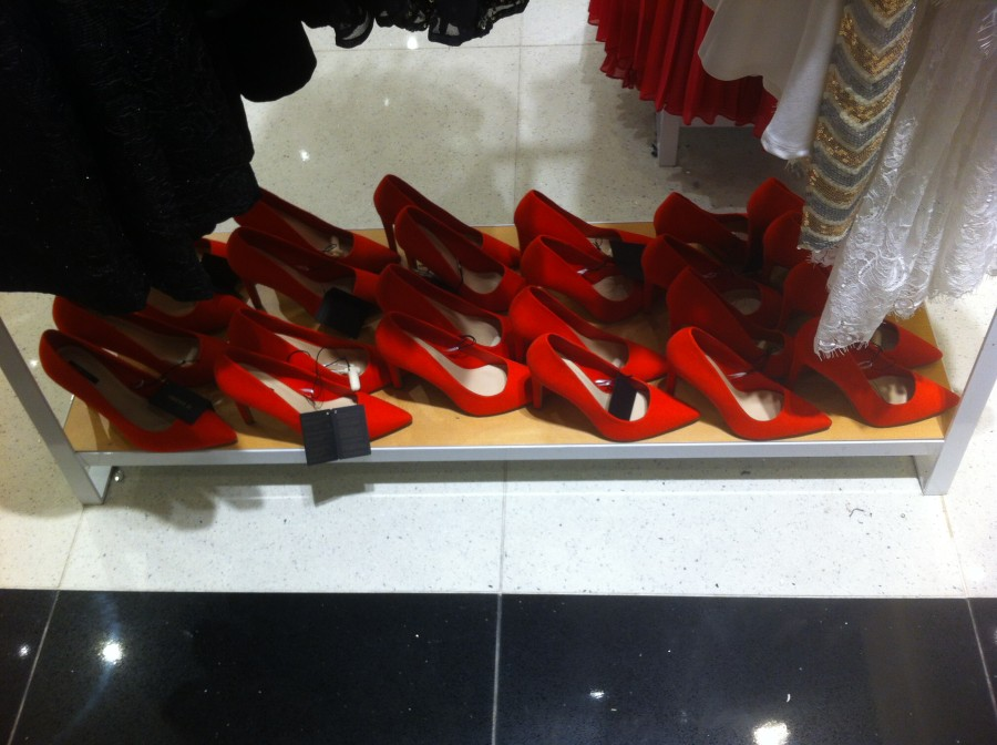 Hmm, how many pairs of red heels do I need??