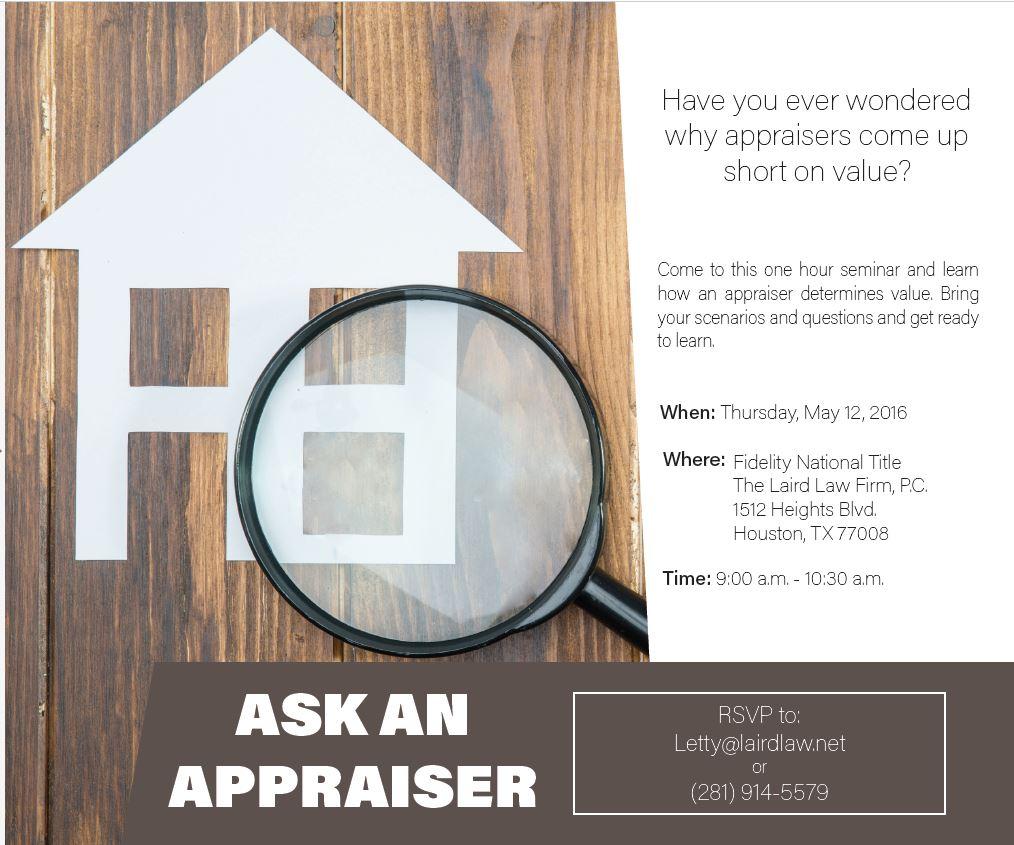 Ask an Appraiser