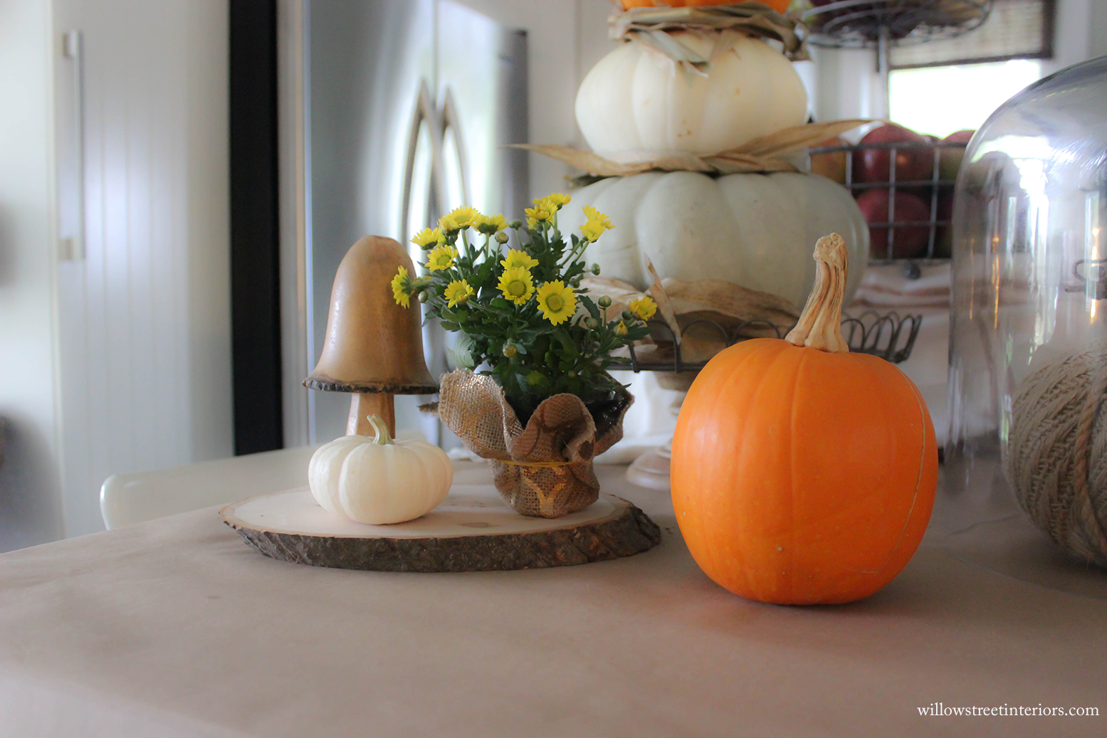 Pumpkins, Chrysanthemums, and Woodland Critters