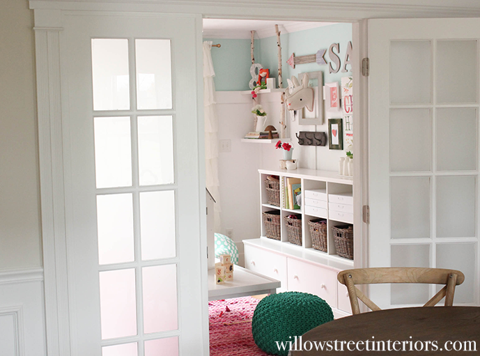 a sweet girls playroom