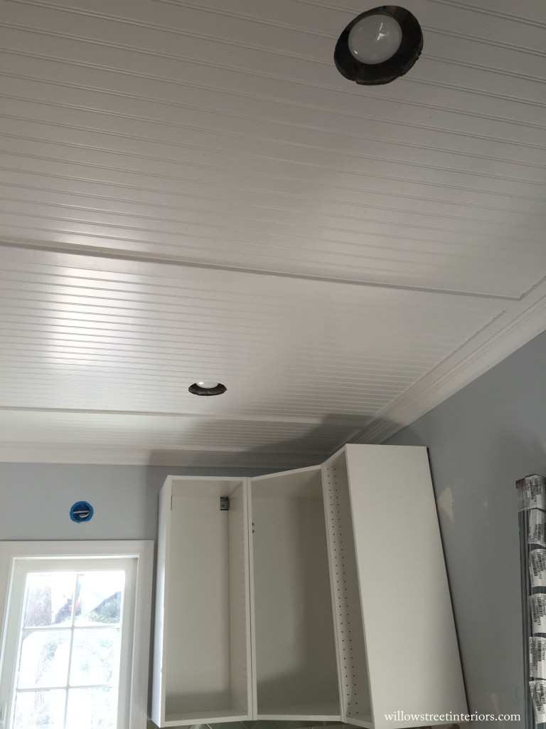 kitchen ceiling in progress