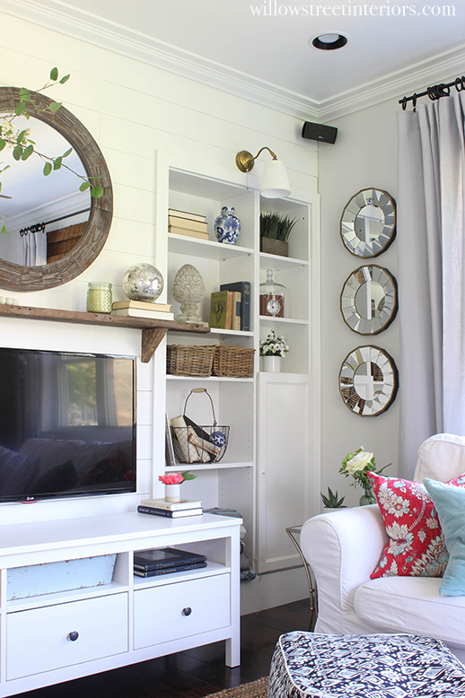 built ins and shiplap